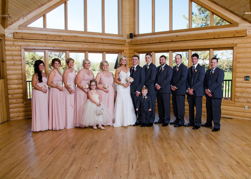 Peyton wedding bridal party