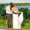 Wiskus wedding looking at the lake