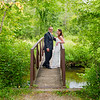 Kriel wedding Bride and groom on bridge