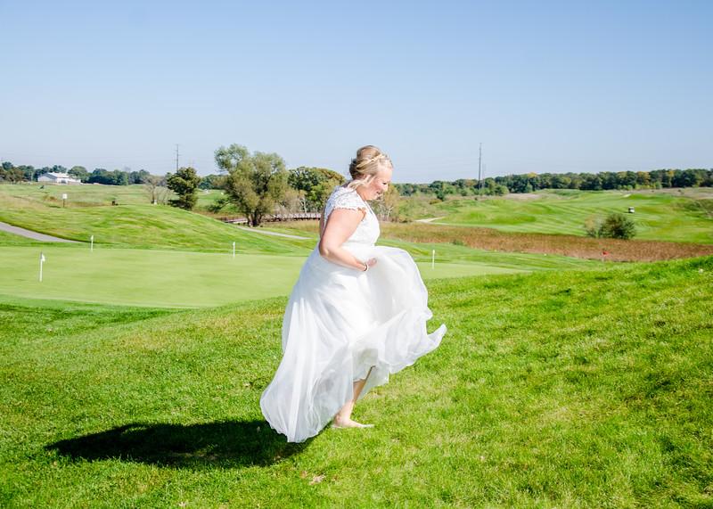 Riess Wedding bride on hill