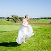 Riess Wedding bride on hill