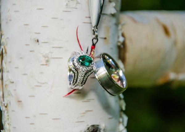 I'm hooked, wedding ring on fishing lure photo