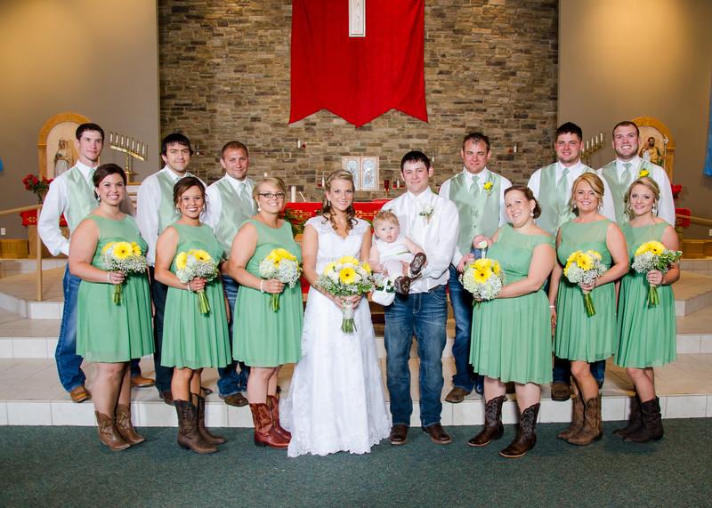 Loftus wedding party