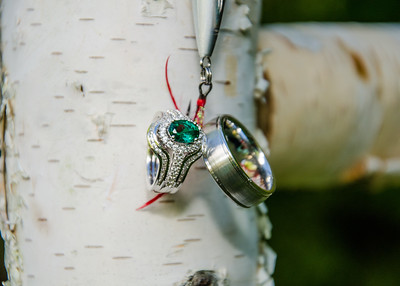 I'm hooked, wedding ring on fishing lure photo