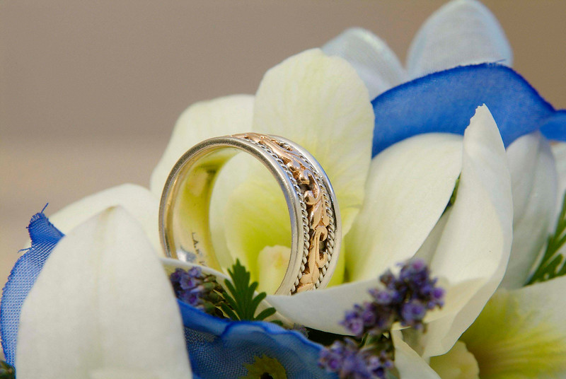 Wedding rings photographed in Barbados