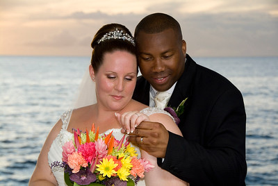 Sunset Wedding in barbados