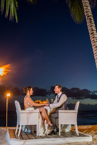 Meal under the stars in Barbados