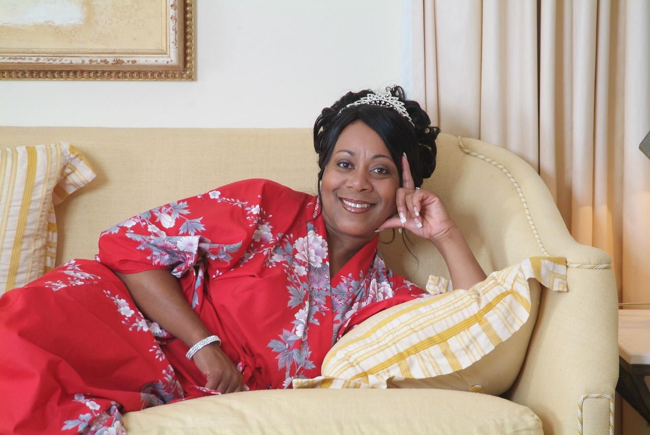 Relaxed bride in Barbados
