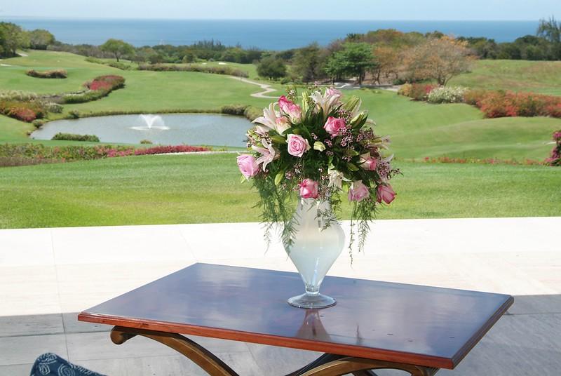 Sandy Lane country club Wedding flowers