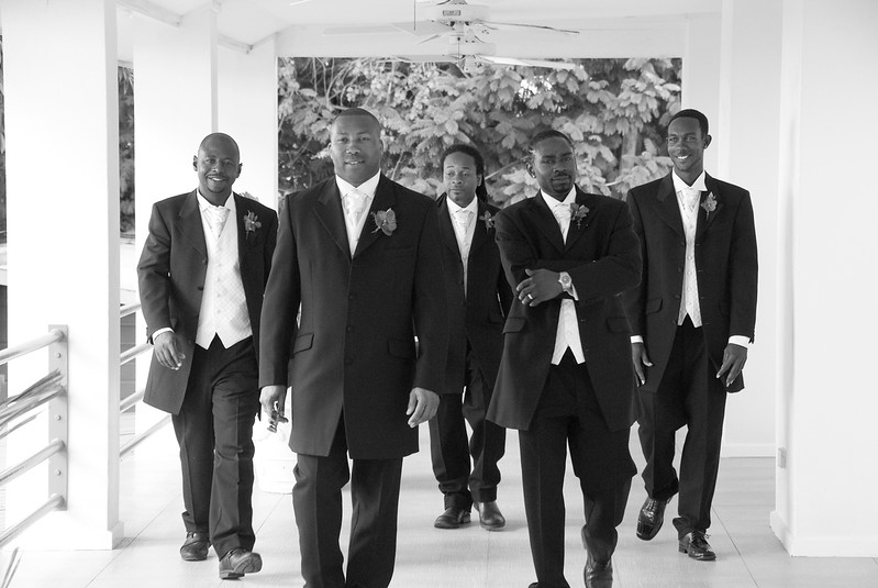 The guys ready for the wedding