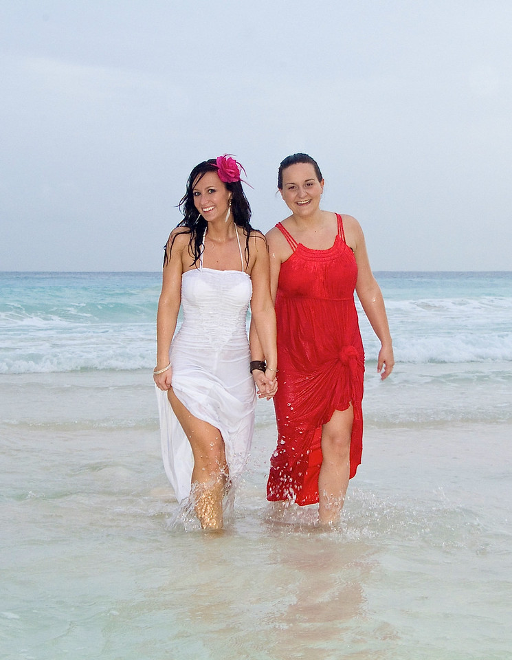 Fun in the surf. Wedding Photography in Barbados by Barbados Photography.