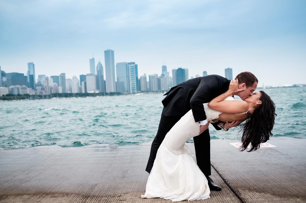 Chicago Trolley Wedding Portraits
