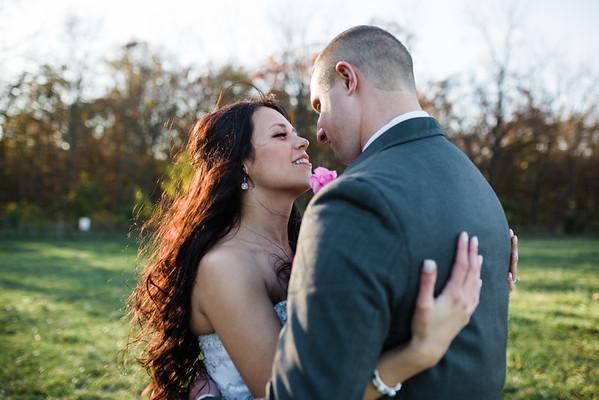 Autumn Portraits at Kilbuck Creek with the Bride and Groom