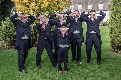 Having fun with the groomsmen