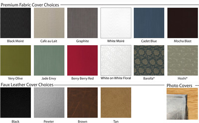 Color/Fabric Options For Engagement Albums