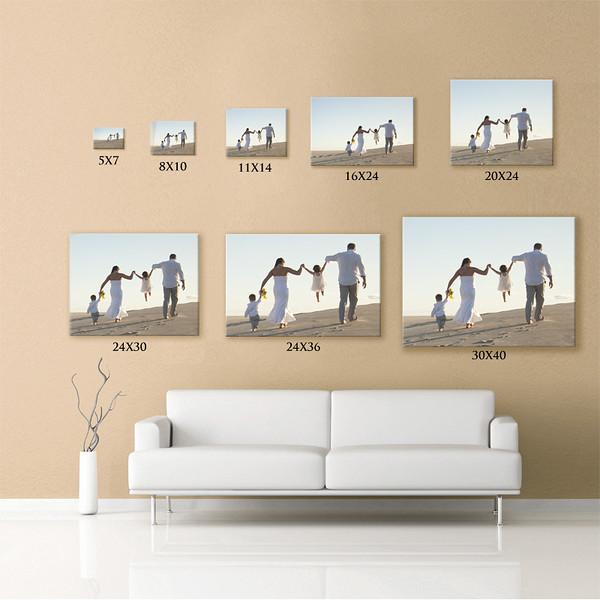 Print Sizes For Photographic Paper / Metals Prints / Canvas Prints
