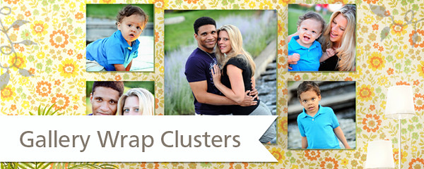 Canvas Gallery Wrap Clusters Starting at $335.00