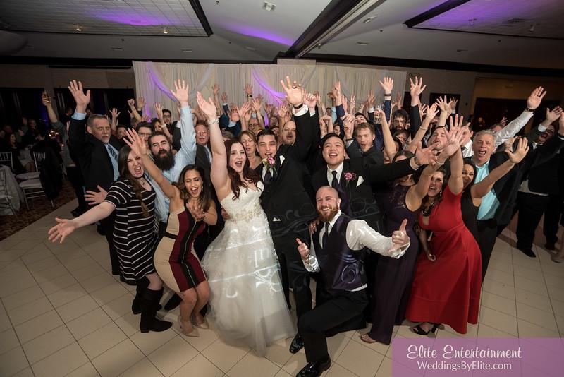 Wedding celebration at reception