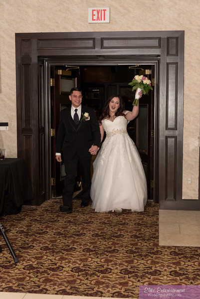 Bride and groom at the reception
