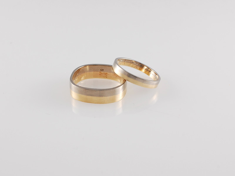 Two-tone Gold Wedding Bands