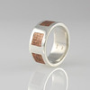 Our 'Moscow' Band Ring in Silver with Copper Inlay