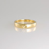 Gold Wedding Band with Gold Engraved Koru
