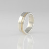 Our 'Sydney' Design Silver with Gold Inlay