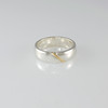 Our 'Havana' Band Silver Ring inlay with Gold Stripe