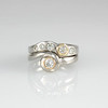 Palladium Diamond wedding set  - Florence design