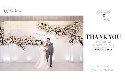 Dịch vụ in ảnh lấy liền & cho thuê photobooth tại sự kiện Tiệc cưới của Thảo và Quân | Instant Print Photobooth Vietnam at Thao & Quan;s Wedding