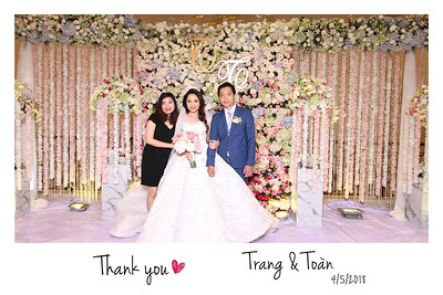 Chụp ảnh lấy liền và in hình lấy liền từ photobooth tại tiệc cưới của Trang & Toan tai Asiana Plaza | Instant Print Photobooth at Trang & Toan's Wedding at Asiana Plaza | PRINTAPHY - PHOTO BOOTH VIETNAM