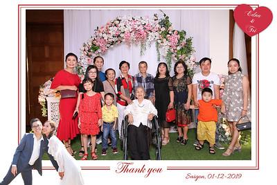Dịch vụ in ảnh lấy liền & cho thuê photobooth tại sự kiện tiệc cưới của Trí & Edna | Instant Print Photobooth Vietnam at Tri & Edna's wedding