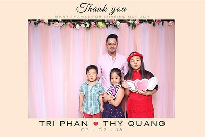 Chụp ảnh lấy liền và in hình lấy liền từ photobooth tại tiệc cưới của Trí & Thủy | Instant Print Photobooth at Trí & Thủy's Wedding | PRINTAPHY - PHOTO BOOTH VIETNAM