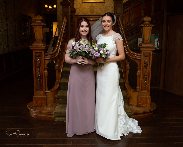 Bride and Maid of Honour at  Merewood Country House Hotel wedding
