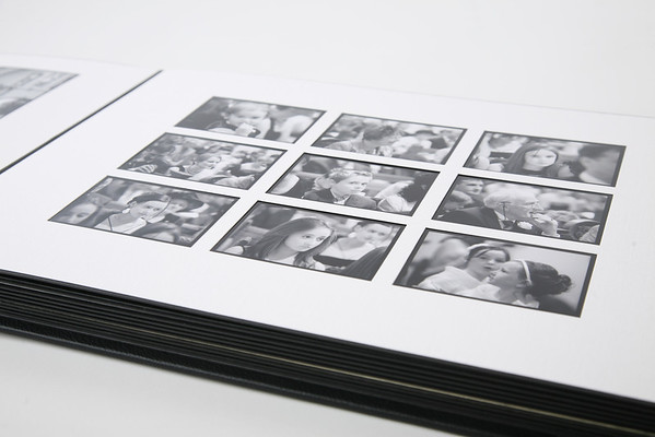 A classic matted album 12x12 cover materials in black white or sand colour