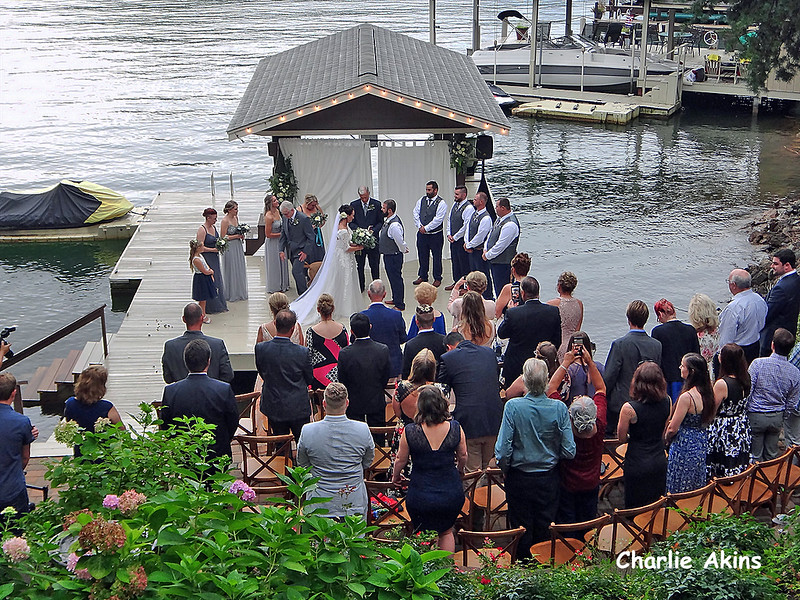 This dock was a great place for the wedding ceremony.