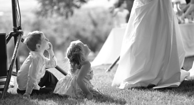 St. Chappelle Winery, All Outdoor Photography. One of my favorite wedding shots. Those kids are so cute. Photo by Mike Reid, Boise Wedding Photographer.
