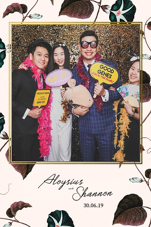 Wedding of Aloysius & Shannon | © www.SRSLYPhotobooth.sg