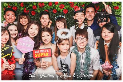 Wedding of Alvin & Adelaine | © www.SRSLYPhotobooth.sg