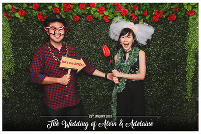 Wedding of Alvin & Adelaine | © www.SRSLYPhotobooth.sg