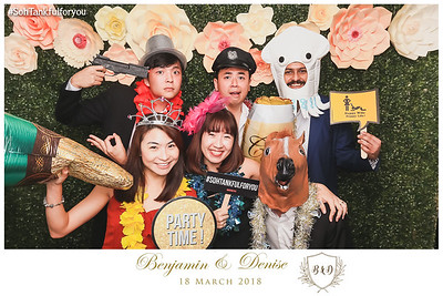 Wedding of Benjamin & Denise | © www.SRSLYPhotobooth.sg