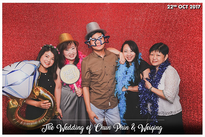 Wedding of Chun Phin & Weiqing | © www.SRSLYPhotobooth.sg