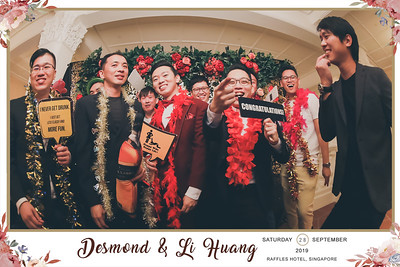 Wedding of Desmond & Li Huang | © SRSLYPhotobooth.sg