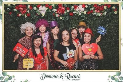 Wedding of Dominic & Rachel   © www.SRSLYPhotobooth.sg