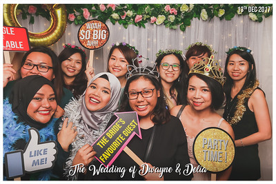 Wedding of Dwayne & Delia | © www.SRSLYPhotobooth.sg