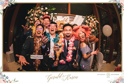 Wedding of Gerald & Karen | © www.SRSLYPhotobooth.sg