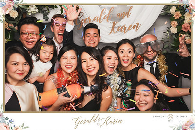 Wedding of Gerald & Karen | © www.SRSLYPhotobooth.sg