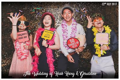 Wedding of Hiok Hong & Geraldine | © www.SRSLYPhotobooth.sg