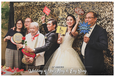 Wedding of Ho Ming & Eng Sang | © SRSLYPhotobooth.sg