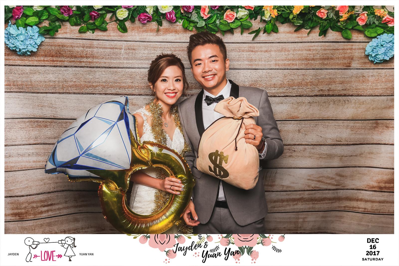 Wedding of Jayden & Yuan Yan   © www.SRSLYPhotobooth.sg
